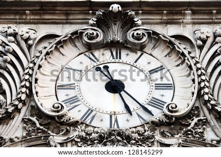 Augusta Street Clock Lisbon Portugal Stock Photo Edit Now