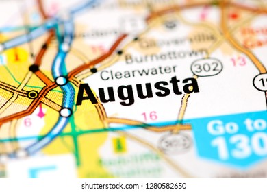 Augusta. Augusta. USA on a map