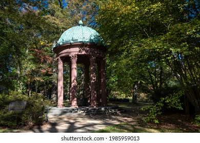 Auguste Victoria Fountain in the park of Bad Homburg, Hesse, Germany