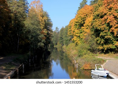the Augustow Canal in autumn
