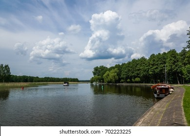 Augustow Canal in Augustow city in Poland