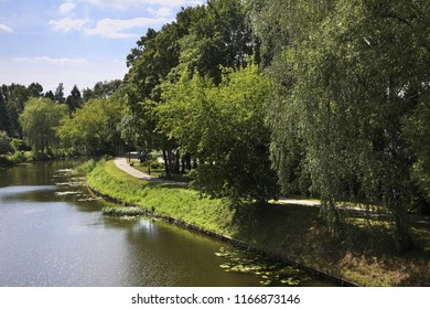 Augustow Canal in Augustow. Poland
