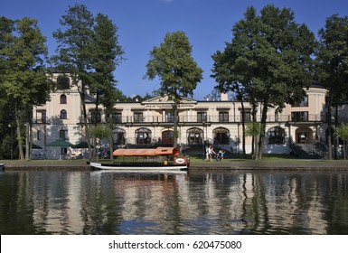 AUGUSTOW. POLAND. 23 JUIY 2014 : Palace on the water Falkowski in Augustow. Poland