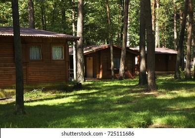 AUGUSTOW. POLAND. 24 JUIY 2014 : Camping at Sajno lake near Augustow. Poland