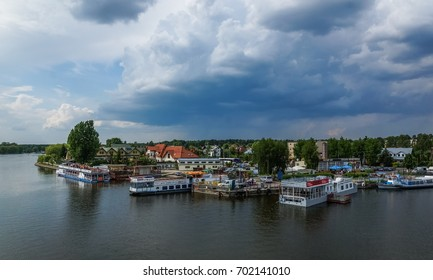 Augustow, Poland - 28 May 2016 - Harbor in Augustow city