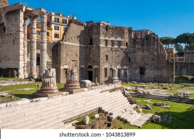 The Augustus Forum (Foro di Augusto) near the Roman Forum in Rome, Italy
