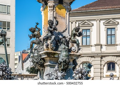 Augustus Fountain in Augsburg, Germany
