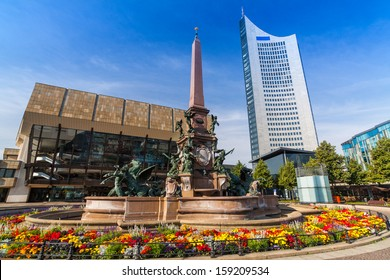 Augustusplatz, City of Leipzig, Saxony, Germany