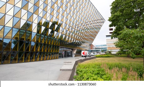 Aula Medica of Karolinska Institutet, Stockholm, Sweden - 20 Jun 2018: It is recognised as Sweden's best university and one of the largest, most prestigious medical universities in the world.