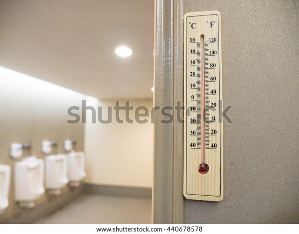 Aur thermometer temperature in toilet