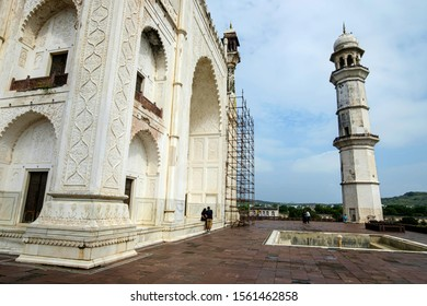 Aurangabad, India - October 29 2019: The Bibi Ka Maqbara at Aurangabad India. It was commissioned in 1660 by the Mughal emperor Aurangzeb in the memory of his first and chief wife Dilras Banu Begum.