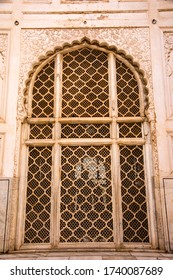 AURANGABAD, MAHARASHTRA, INDIA 23 NOVEMBER 2019 : ornate details of The Bibi ka Maqbara was built by Azam Shah in 1678, as a son's tribute to his mother, Begum Rabia Durrani.