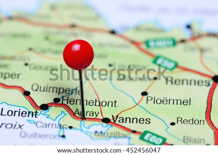 Auray Pinned On Map France Stock Photo Edit Now 452456047