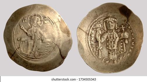 Aureus (Greece Coin), Obverse: Christ seated on a throne.Reverse: Emperor Nikephoros III Botaneiates standing holding globus cruciger.