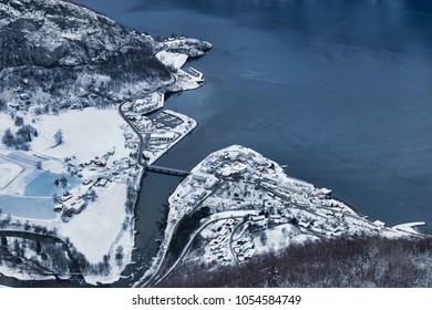 Aurland - taken from the view point Stegastein