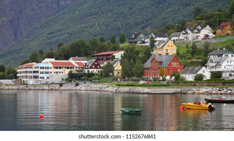 Aurland town in Norway.
