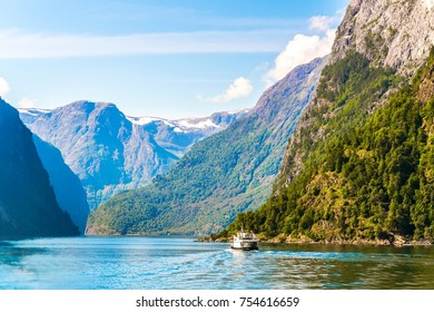 Aurlandsfjord - unesco enlisted natural heritage site - in Norway