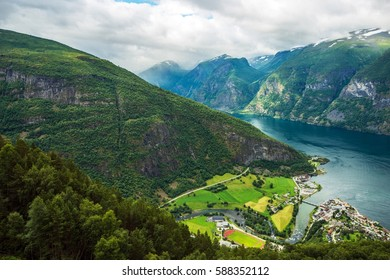 Aurlandsvangen is the Center of the Municipality of Aurland in Sogn og Fjordane County, Norway.