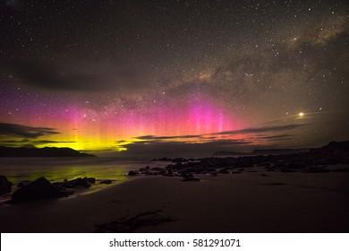Aurora australis, Cloudy Bay, Tasmania