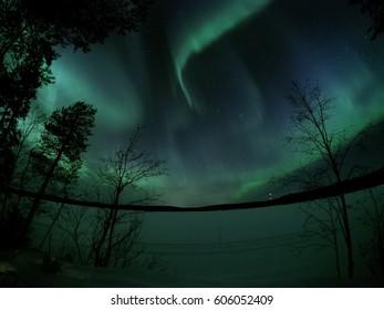 Aurora borealis above Kuusamo (Finland)