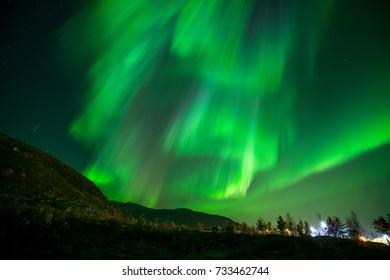 Aurora Borealis in Autumn Tromso