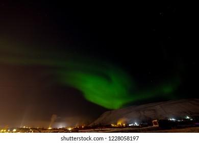 Aurora Borealis and constellations, Norilsk, November 10, 2018