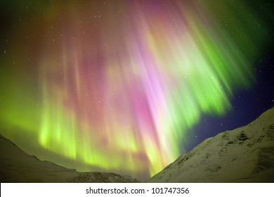 Aurora Borealis or Northen Lights on Dalton Highway. When this photograph was being taken, the temperature was down to -53 degree. But it was worth it.