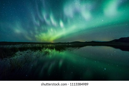 Aurora Borealis (Northern Lights) above