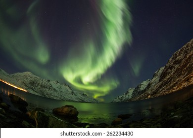 Aurora Borealis (Northern lights) near Tromso, Norway