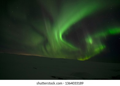 Aurora Borealis. Northern Lights. Teriberka. Murmansk region. Russia