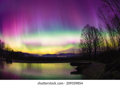 Aurora Borealis in Stowe Vermont, USA