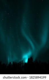 Aurora borealis of various shades and colors