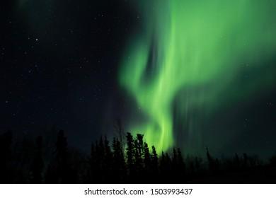 Aurora in Fairbanks Alaska in April 2019