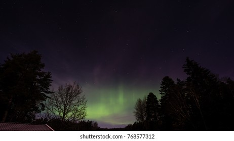 An aurora is a natural light display in the sky, predominantly seen in the high latitude (Arctic and Antarctic) regions but sometimes even in Uppland, Sweden