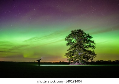 Aurora night in Latvia