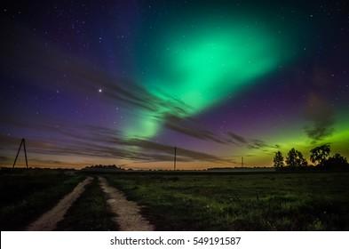 Aurora night in Latvia