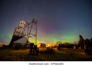 Aurora over Quincy Mine