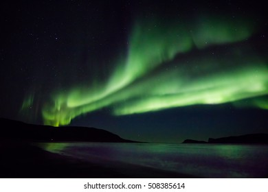 Aurora storm near Tromso