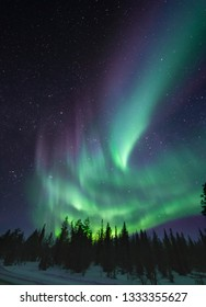 auroras in finnish lapland