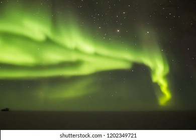 Auroras over the Dark Sector at South Pole