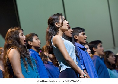 AUROVILLE, INDIA - February 2017: The Auroville Choir