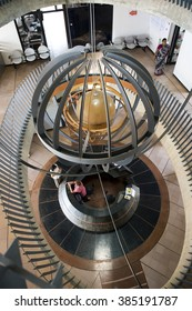 AUROVILLE, INDIA - February 27, 2016: A planet inside the Town Hall atrium