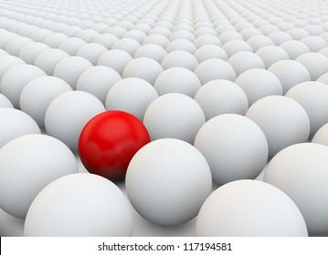 Aus der Masse hervorstechen. Stand out from the crowd