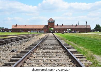 Auschwitz Birkenau a former Nazi extermination camp in Brzezinka, Poland near Oswiecim