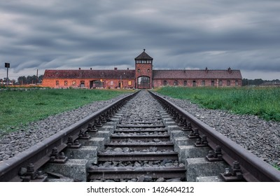 Auschwitz concentration camp in occupied Poland during World War II and the Holocaust.