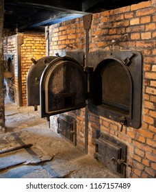 Auschwitz. Poland. 01.29.12. Cremation ovens in Auschwitz concentration camp, where up to three million people were murdered by the Nazis (2.5 million gassed, and 500,000 from disease and starvation).