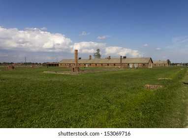 AUSCHWITZ, POLAND - AUGUST 24: The cheap accommodation of the Auschwitz II-Birkenau, a former Nazi extermination camp and now a museum on August 24, 2013 in Oswiecim, Poland