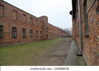 Auschwitz, Poland - February 15, 2016: Auschwitz Concentration Camp
