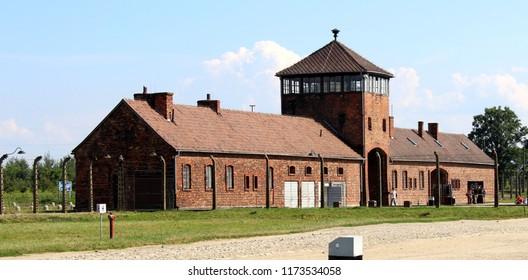 Auschwitz, Poland, July 19. 2014, Deathcamp gate in Auschwitz