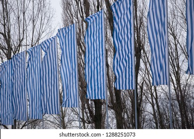Auschwitz-Birkenau, Poland - 27 January 2016: 71 Anniversary of the Liberation of Auschwitz-Birkenau